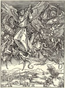 DürerApocalipsisMichaelsKampfmitdemDrachen